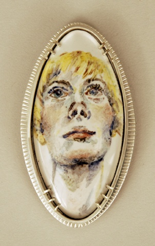Thinking- From Self Portrait Brooch Series 2