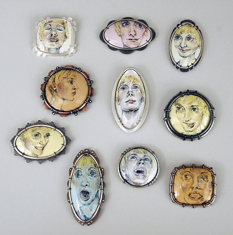 Self Portrait Brooch Series 2