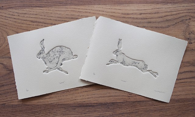 """Hare"" single prints"