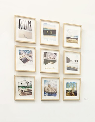 RUN: An Artist Book of Broadsides (installation view)