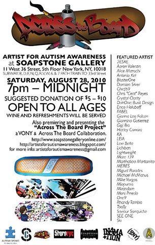 Across The Board: Artists For Autism Awareness