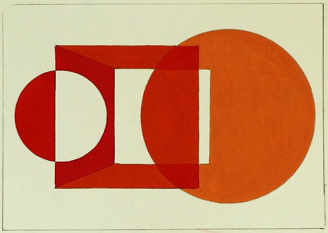 work on paper, gouache, minimal, art, high key color, spatial theory