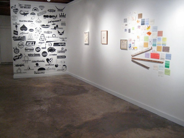 Text as Image  group show curated by Bill Thelen