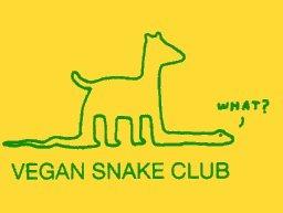 Vegan Snake Club sticker