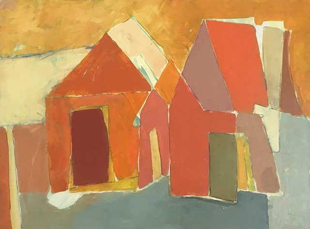 "Casa ""It takes a village"" Contemporary Paintings by Rick Griggs"