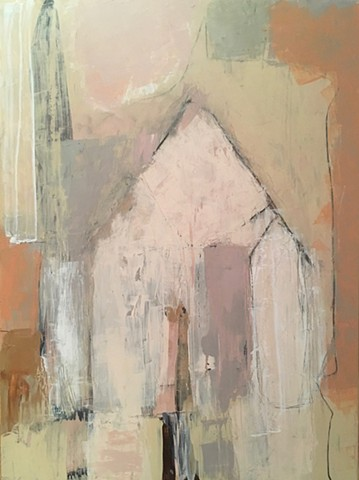 Rustic, Spanish, Warm, Painting, Abstract, Contemporary, Santa Fe, Palm Springs