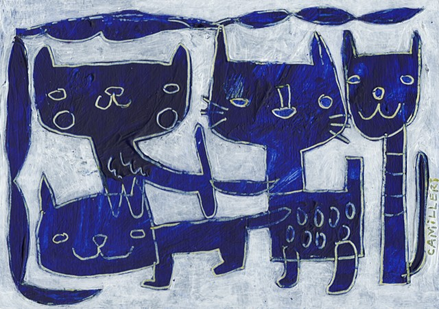 pussy in blue