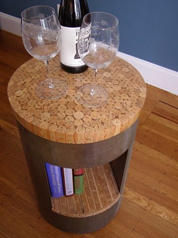 furniture, unique, handmade, wine corks