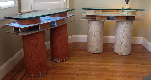 hall table, collage, unique furniture