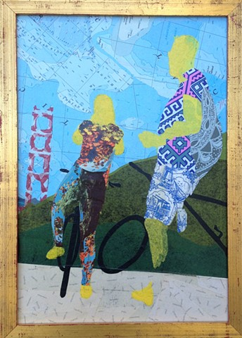 collage, san francisco, fine art, golden gate bridge