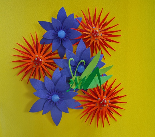 hand cut paper, paper art, paper artist, paper sculpting, paper sculpture, paper craft, paper flowers, bugs