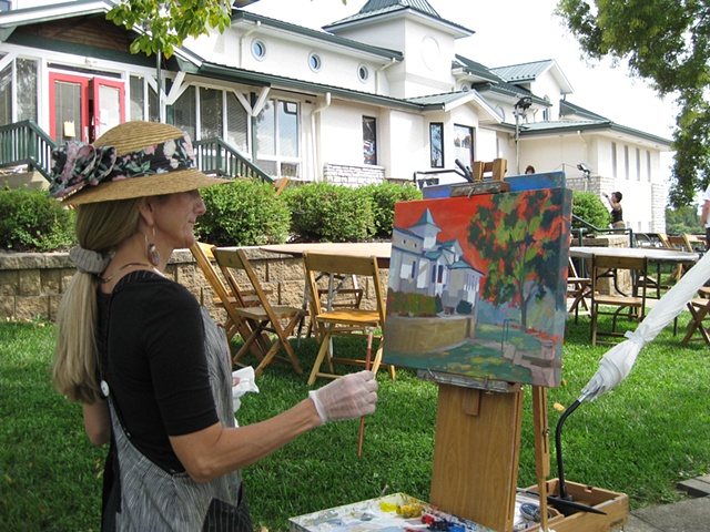 Fresh Art Plein Air Painting at the Behringher Crawford Museum, Devou Park, KY
