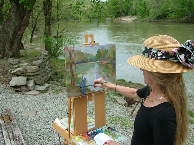Painting along the Little Miami River, Loveland Ohio