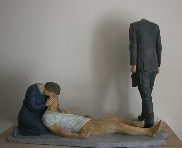 plaster ,sculpture, pieta,