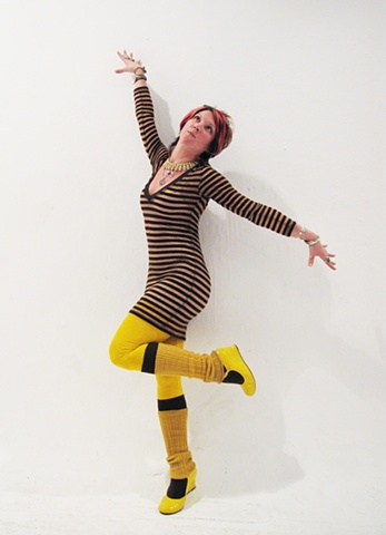 Yellow performance san francisco color fashion clothing dress