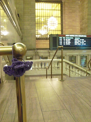 Crochet Bird Tag Grand Central Station, New York City