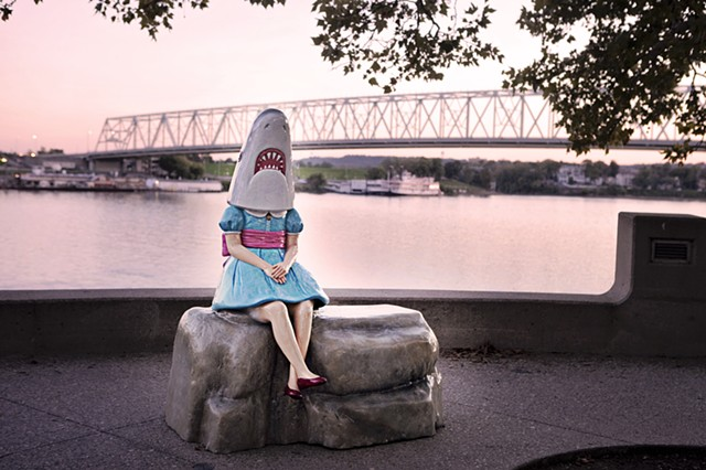 Shark Girl with Ohio River