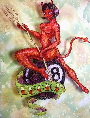 Devil Bad Girl Pinup