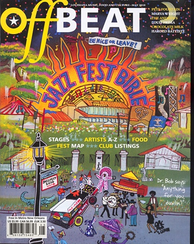 Off Beat Magazine cover May 2010