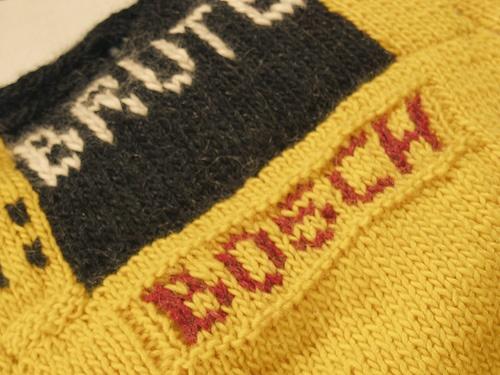 Hand Knit Jackhammer- Detail