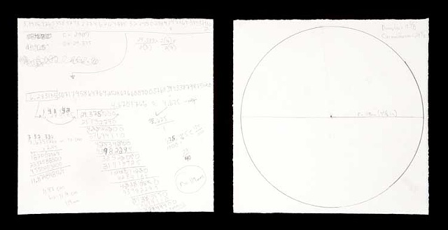 Calculating the radius of a circle with the circumference of 29.375 inches in order to draw the circle as accurately as possible. (56 minutes, 22 seconds. Resultant circle: Diameter: 9.375 in. Circumference 29.875