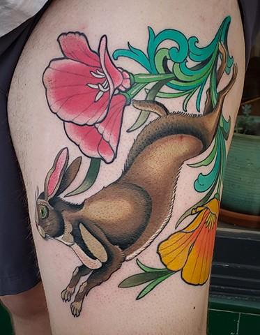 Jackrabbit Tattoo by Adam Sky, San Francisco, California