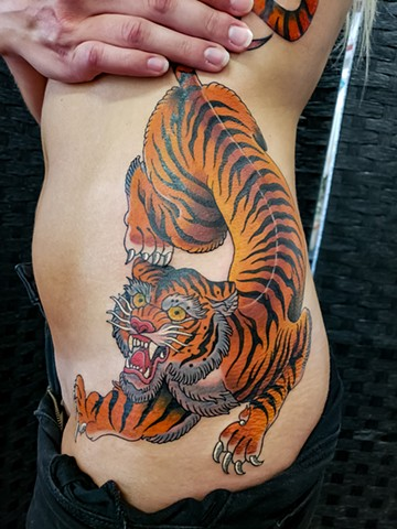 Tiger Tattoo by Adam Sky, Redwood City, California