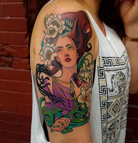 Persephone tattoo by Custom tattoos by Adam Sky, San Francisco, California