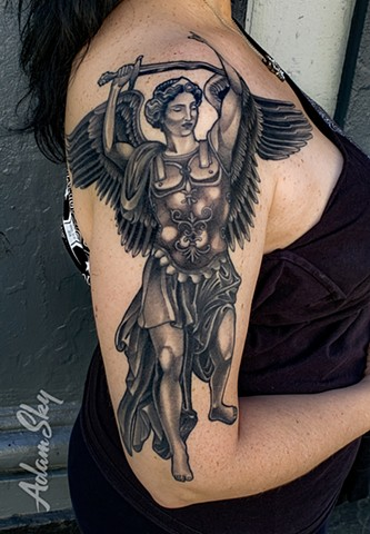 Saint Michael the Archangel by Adam Sky, Redwood City, Bay Area, California