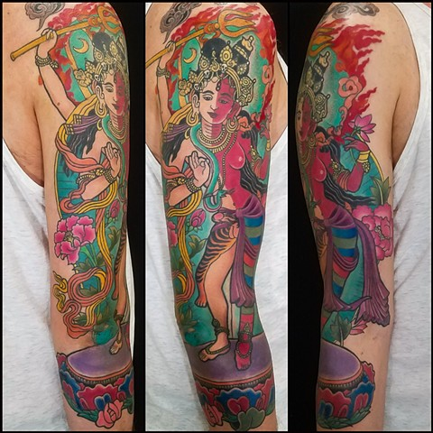 Ardhanarishvara Tattoo by Adam Sky, San Francisco, California