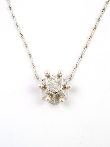 Hex Necklace with Pearls