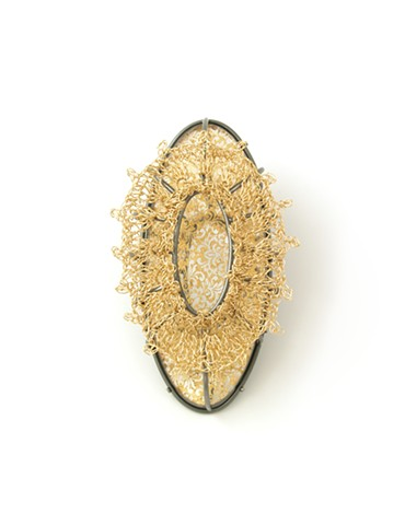 Golden Reflection Brooch