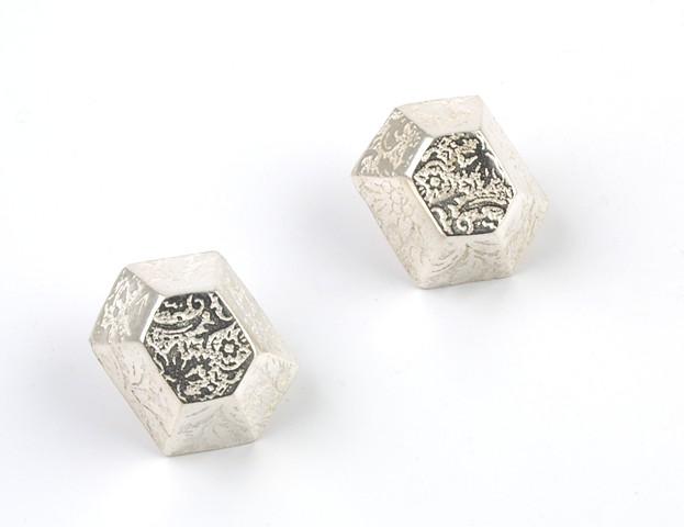 Hex Post Earrings