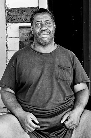 Man on Stoop, Bywater - New Orleans