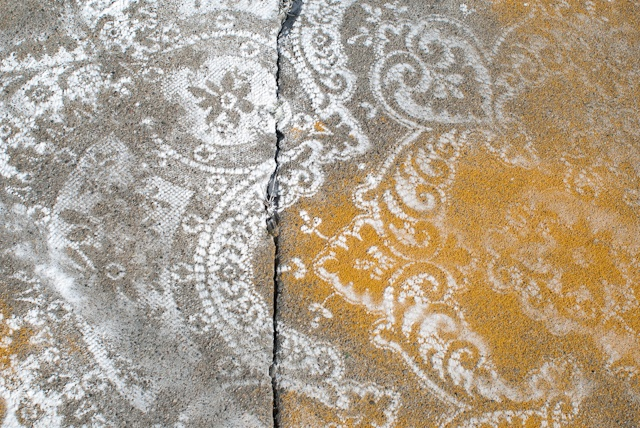 Curry powder and sugar on pavement