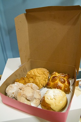 An assortment of cinnamon pastries courtesy of Dominguez Bakery in San Francisco