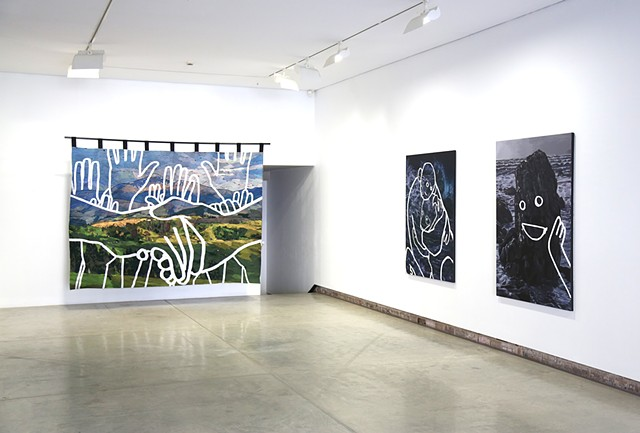 Installation shot from Contested territories