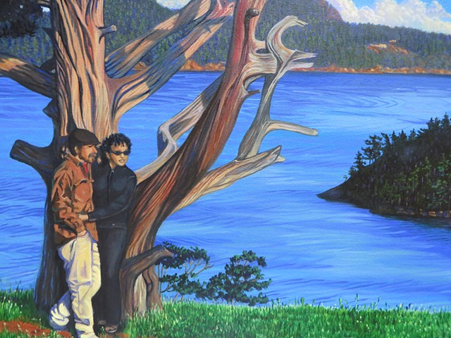 Overlooking Deception Pass in Anacortes a portrait of Stanny and Victor Garcia