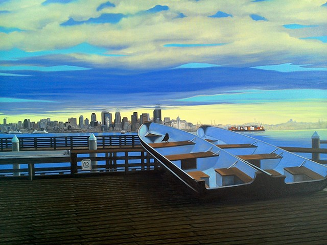 Harbor View of the Seattle Skyline,