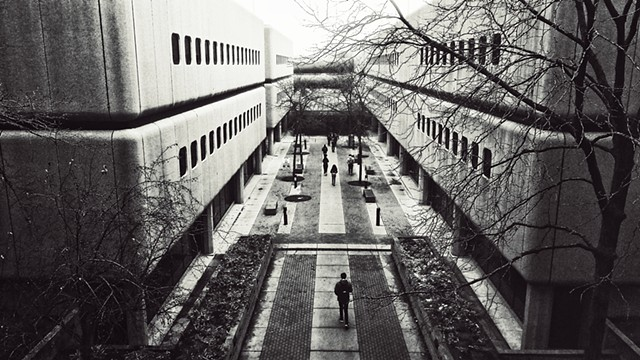 Brutal Courtyard, Wilber Wright College