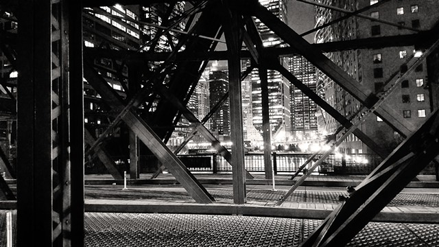 Looking Through Kinzie Bridge