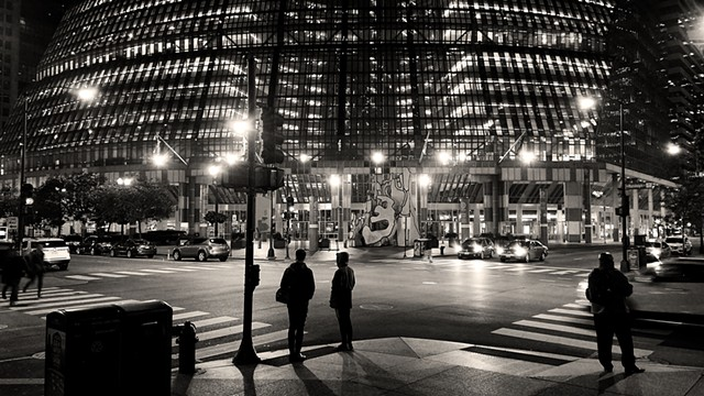 The Thompson Center at Night