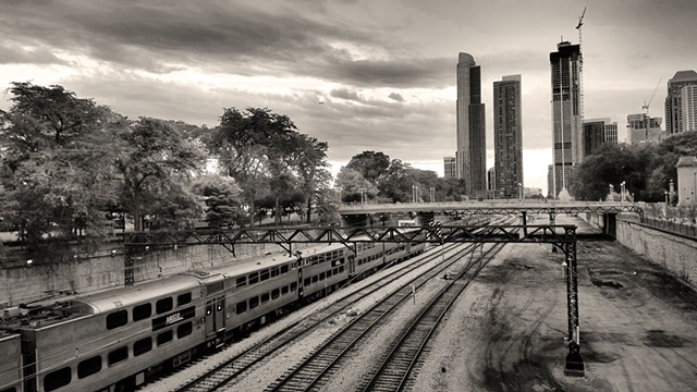 Grant Park Trainyard Looking towards Roosevelt