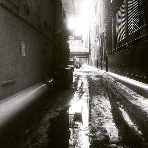 Wintry Wet Alley Near Jackson & State