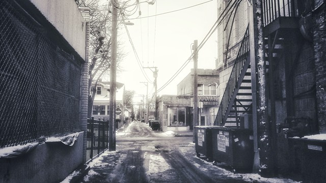 Snowy Alley Near Devon & Maplewood