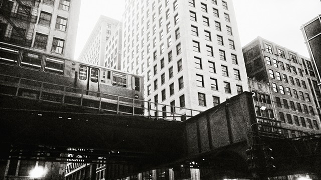 The L Rumbles Above Wabash