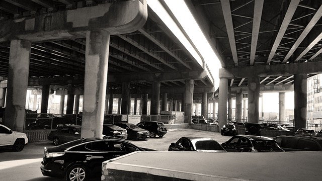 Parked Cars under I-94 at Cermak