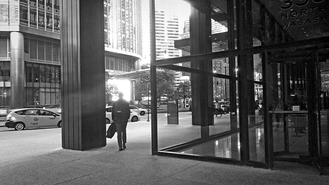 Walking Man, on North Wabash