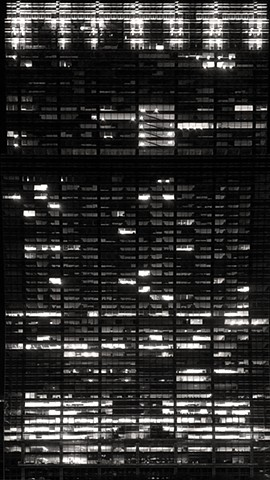 Building Facade with Light Pattern