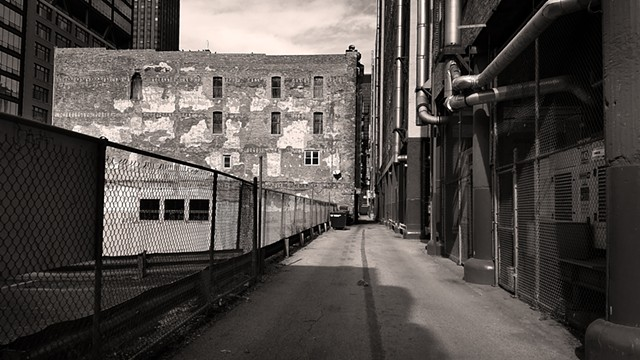 Afternoon Shadows in a Printer's Row Alley